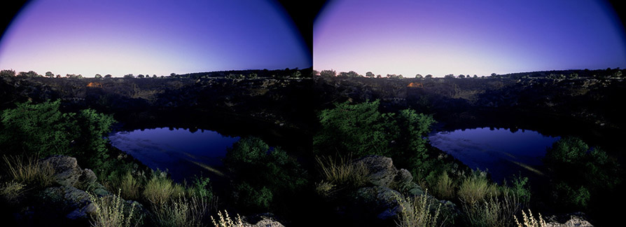 3D light-painted photograph of Montezuma Well, Arizona