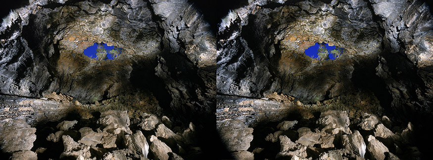 Big Skylight Cave, El Malpais National Monument, New Mexico3D light-painted photograph of