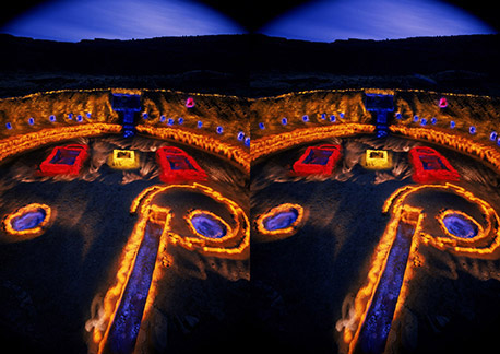 3D light-painted photograph of Casa Rinconada, Chaco Canyon, New Mexico