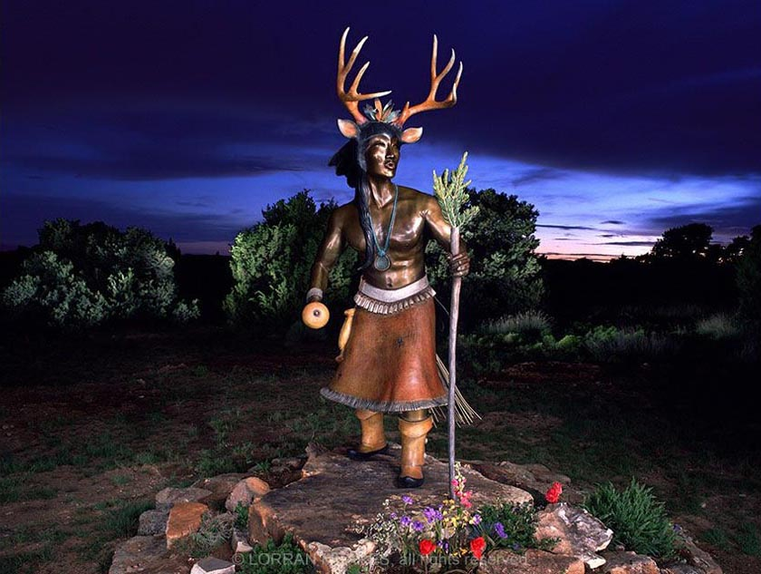 Deer Dancer, Sculpture by Estella Loretto