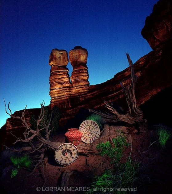 Navajo Baskets at the Twin Rocks, Utah