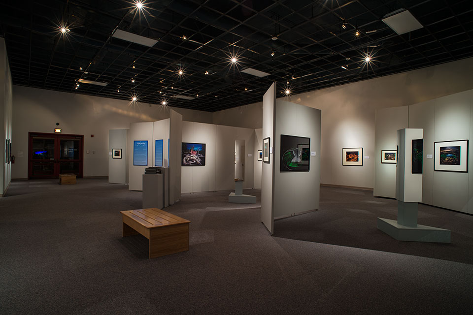 Sacred Places Exhibition as viewed from the east wall