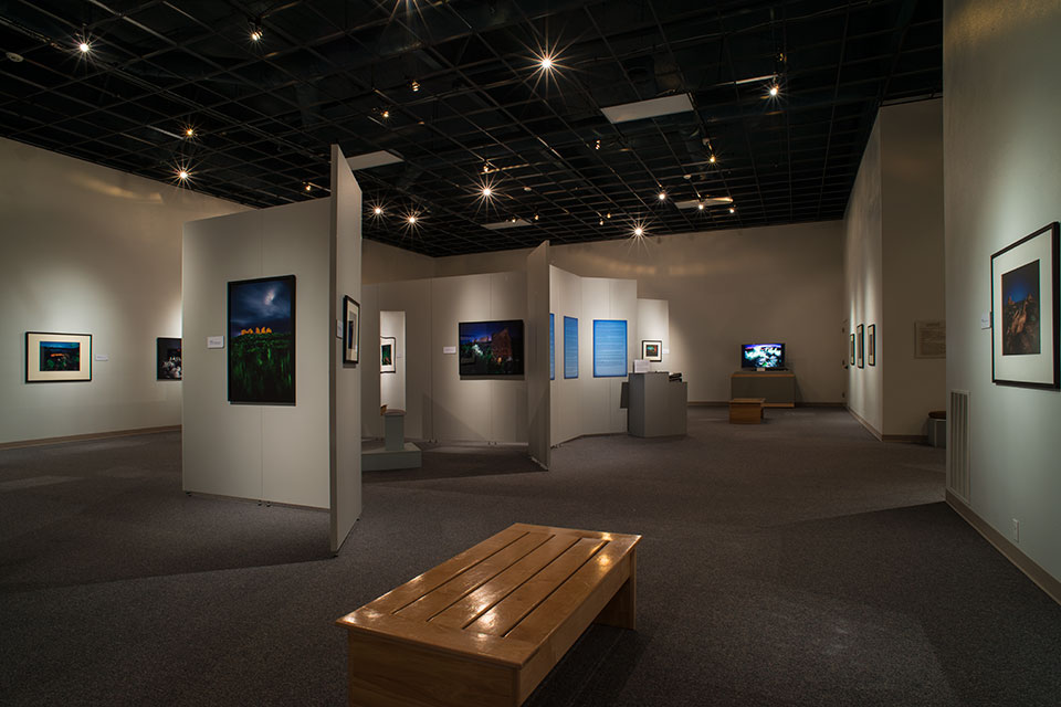 View of exhibition from the east entrance