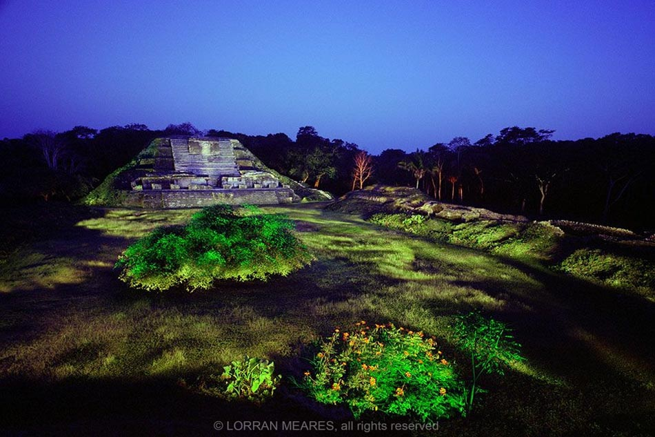 Temple of the Great Pillars, Altun Ha, Belize