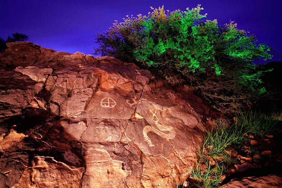 Rattlesnake and Turtle Petroglyphs, New Mexico