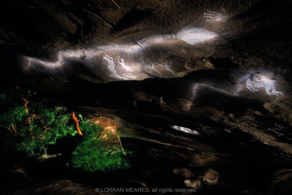 Pictographs, Fertility Cave, Hueco Tanks, Texac