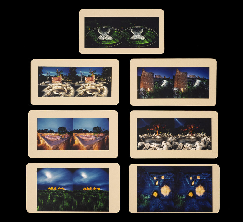 Unique Collection of Eight Cibachrome Stereo Cards